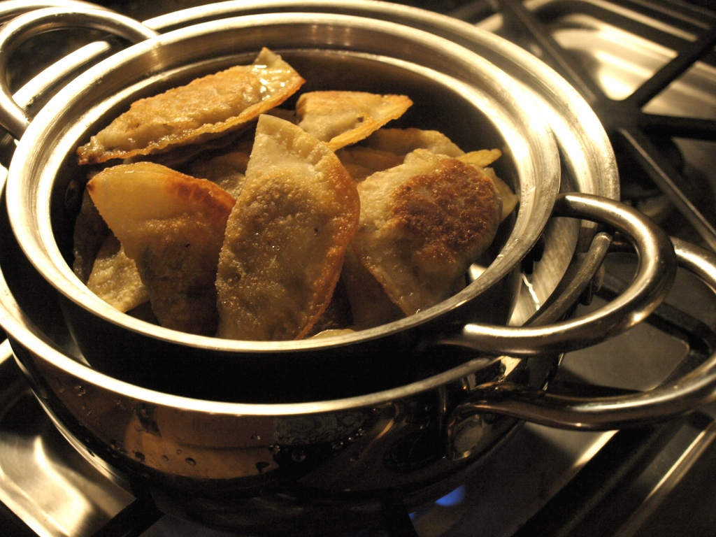 Steaming Pot Stickers