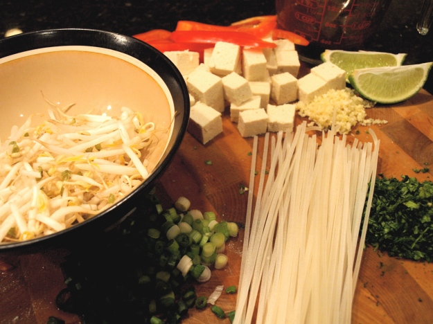 Prepared Pad Thai Ingredients