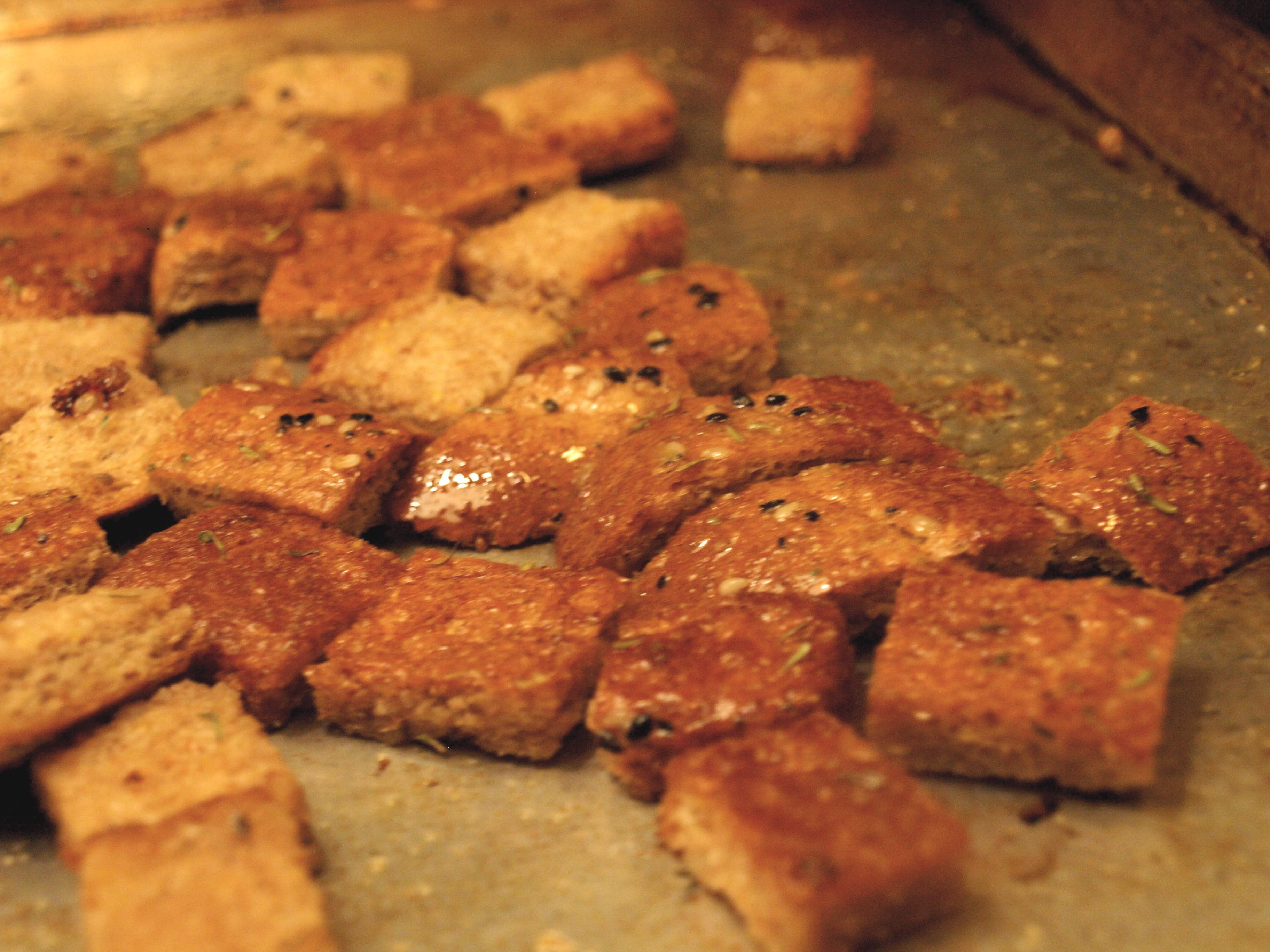 Homemade Thyme Croutons