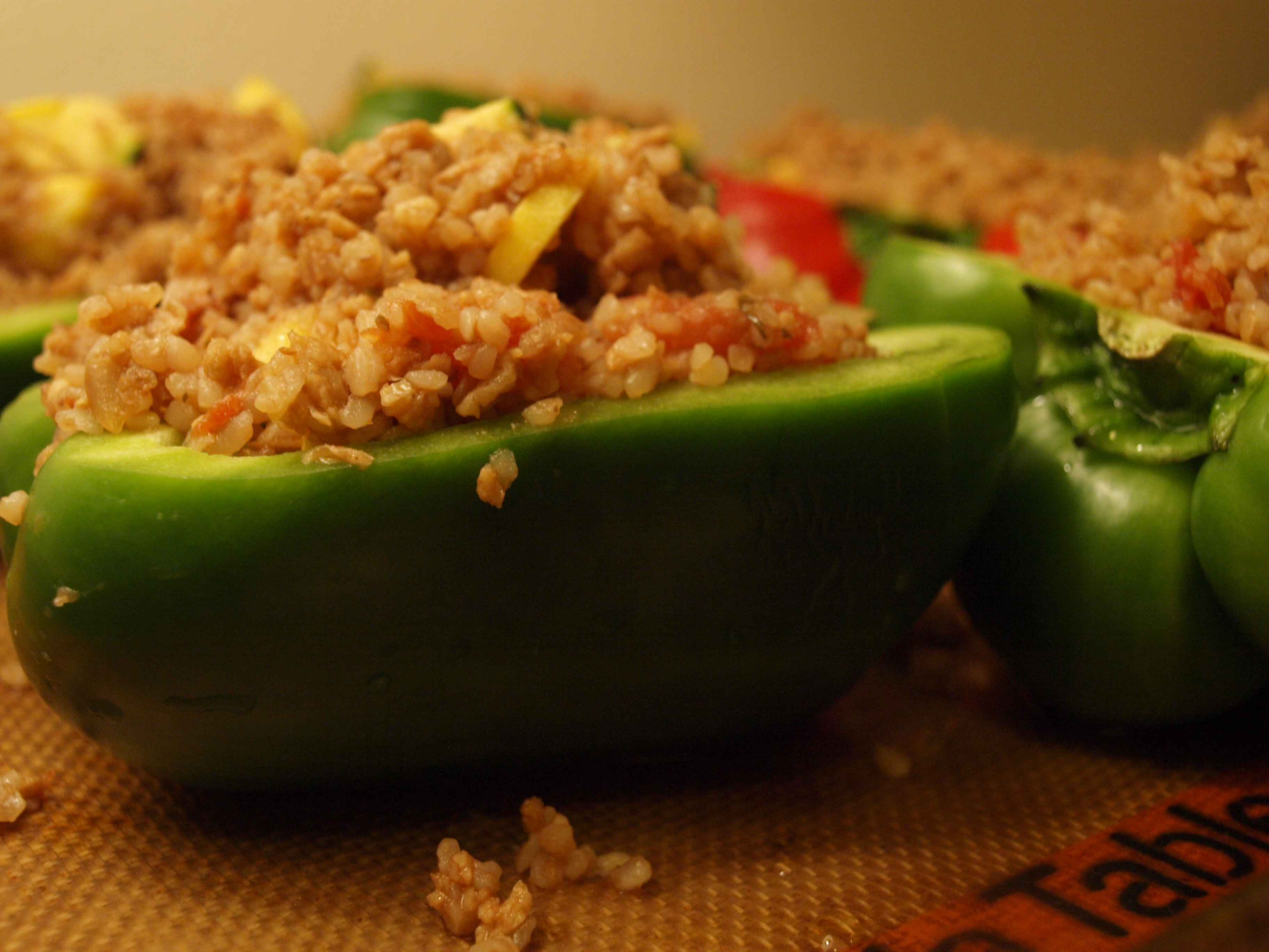 Stuffed green pepper with kasha