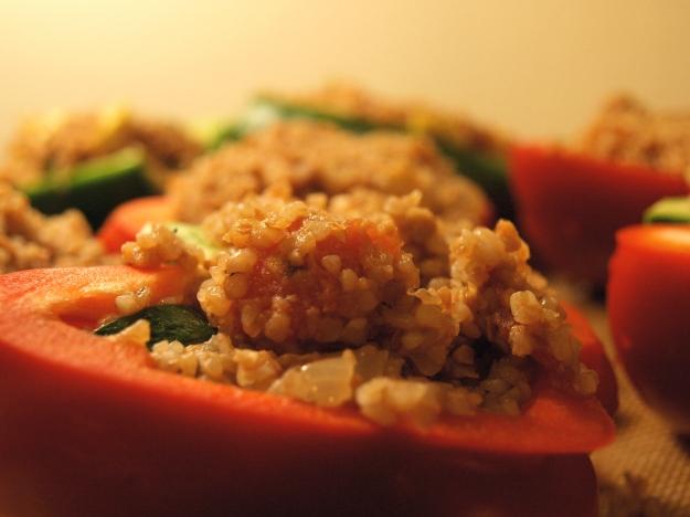 Stuffed Red Pepper Kasha Vegetables