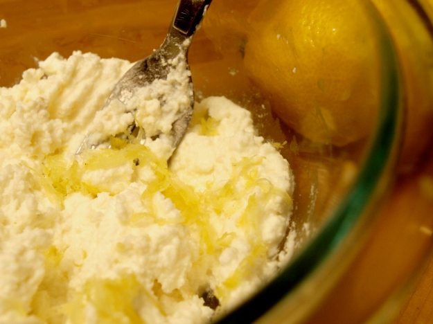 Ricotta Goat Cheese Lemon Zest