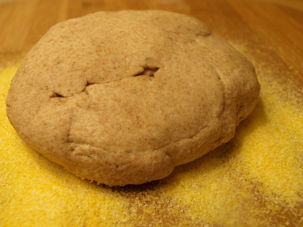 Whole Wheat Dough Corn Meal