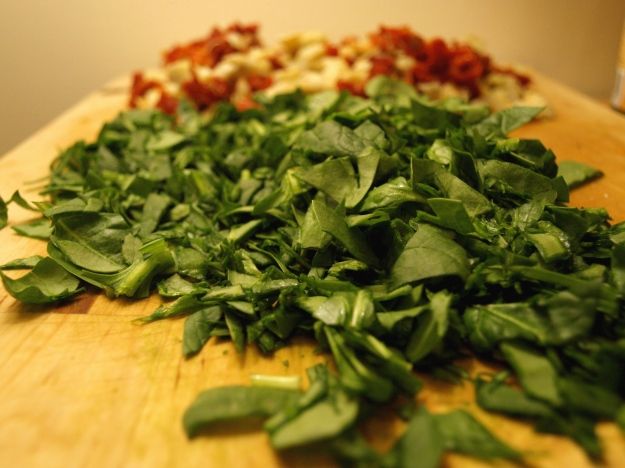 Chopped Spinach Sundried Tomatoes and Artichokes