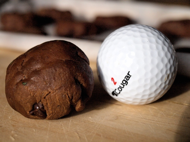 Golf ball sized cookie dough