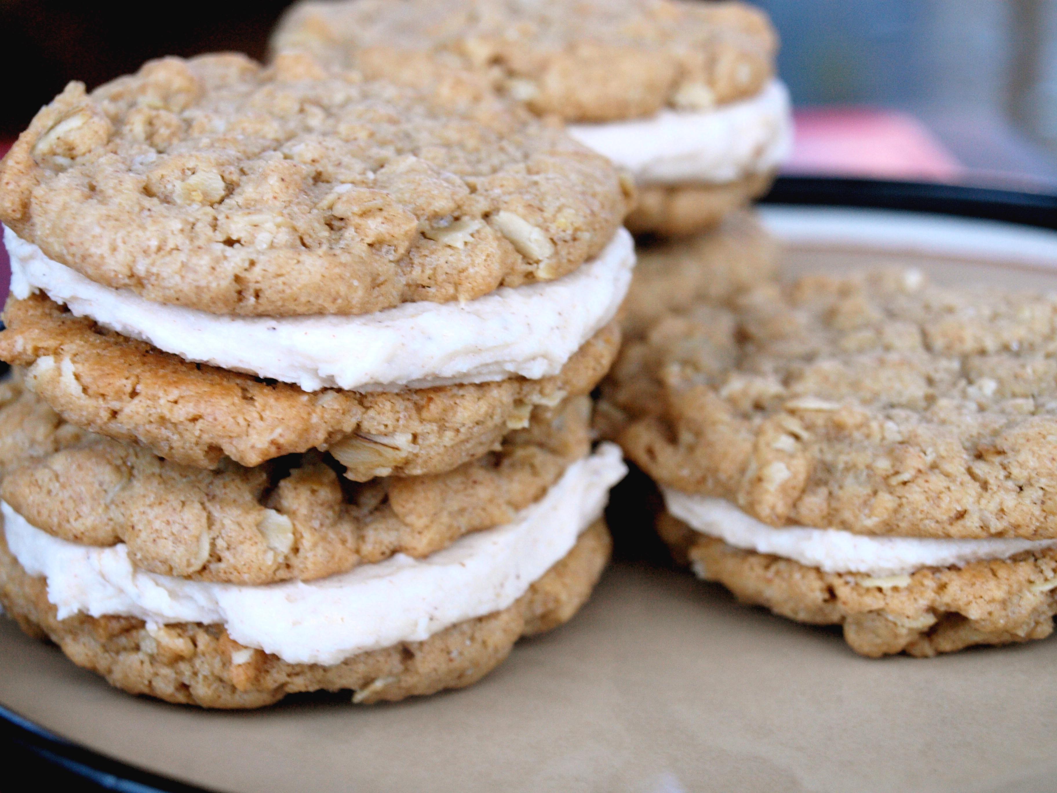 Honey Buttercream Almond Butter Cream Pies