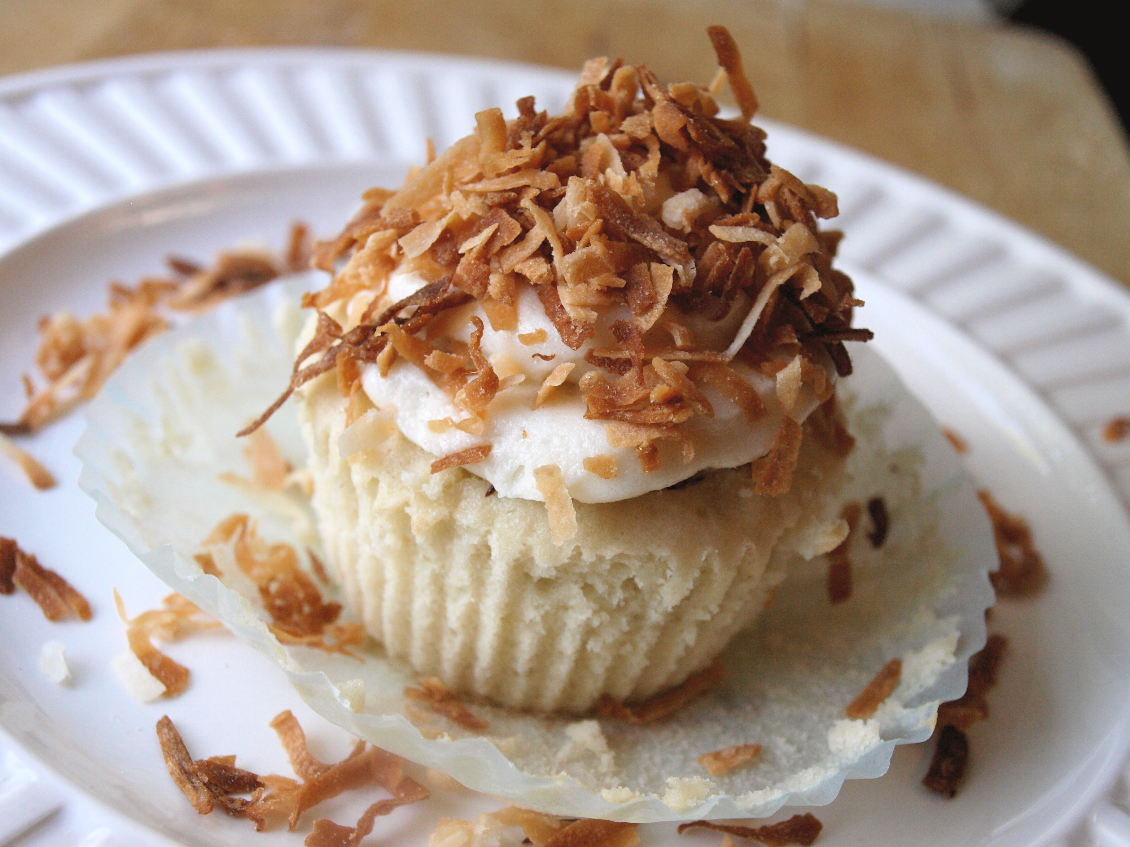 Coconut Cupcake with Chocolate Fudge Filling 3