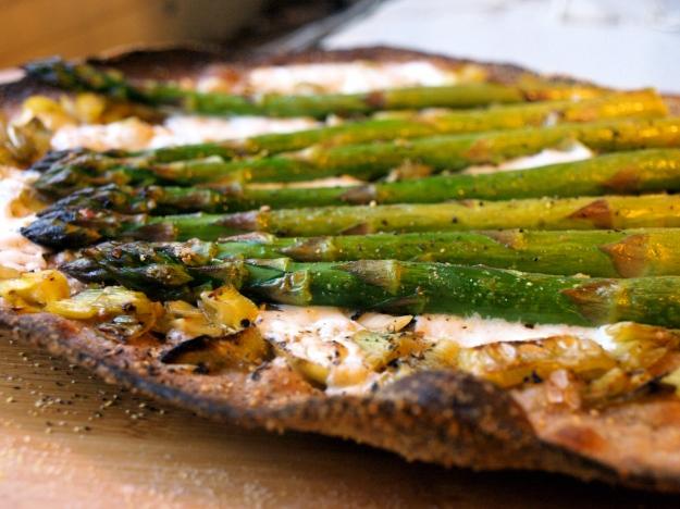 Crispy Asparagus Pizza 4