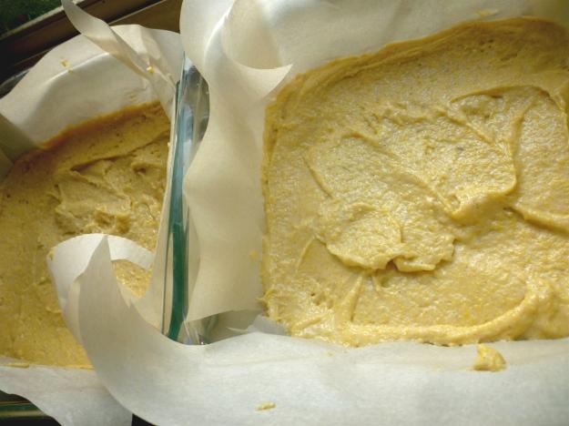 Cornbread cake pre-baking