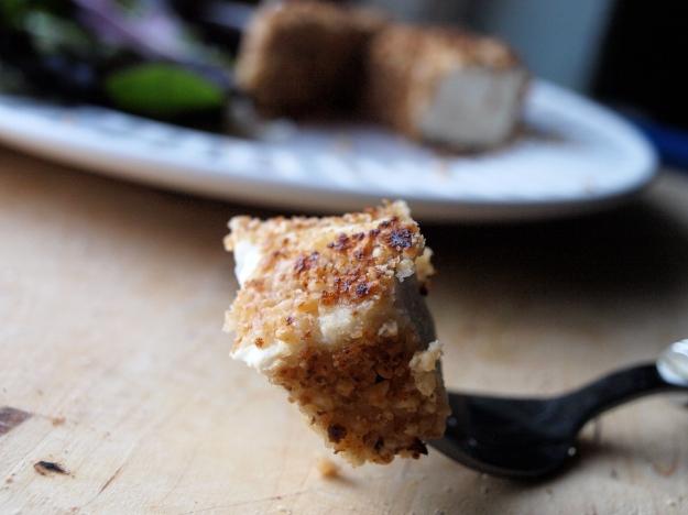 Peanut crusted tofu