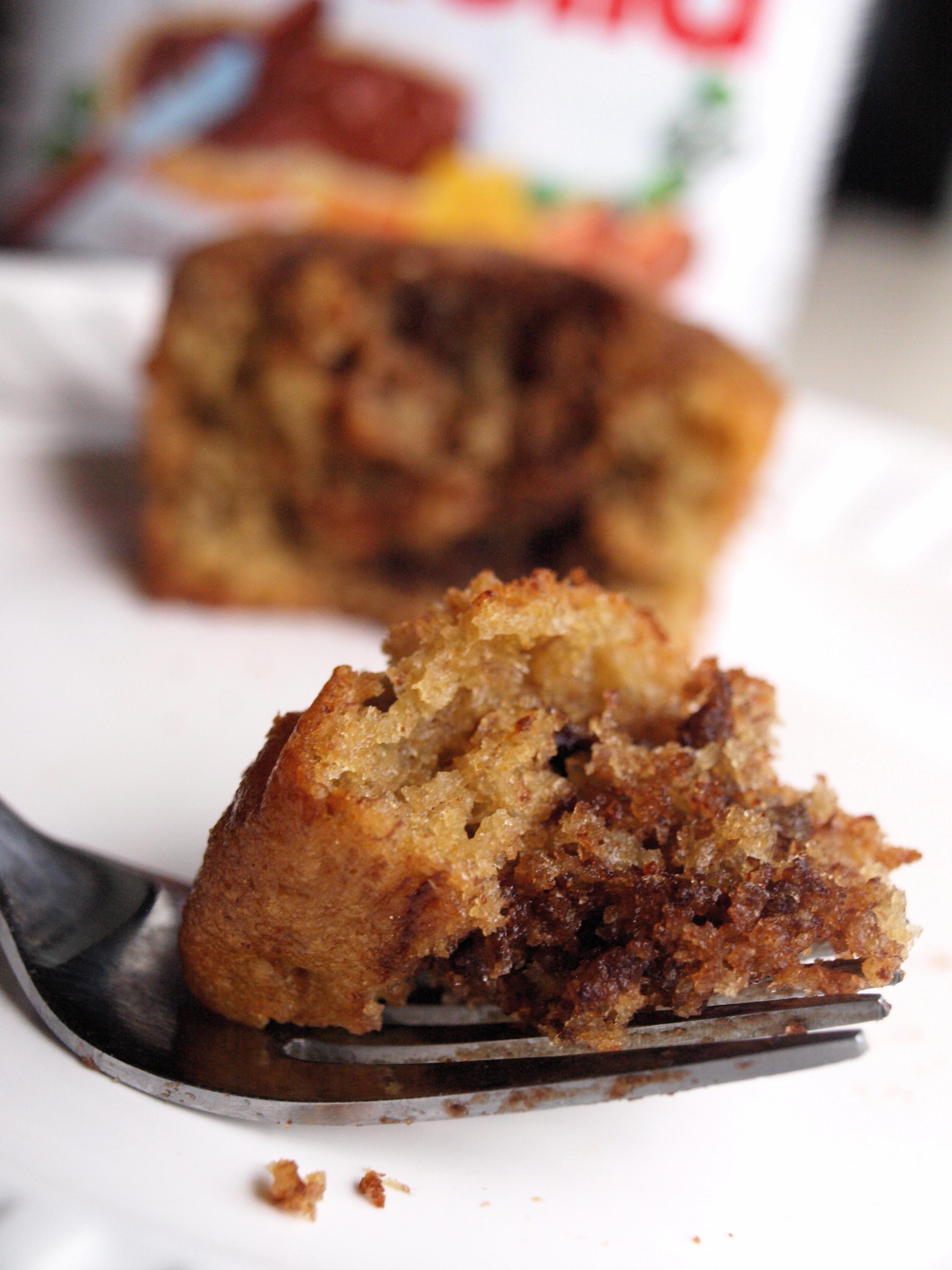 Nutella swirled banana muffins 4