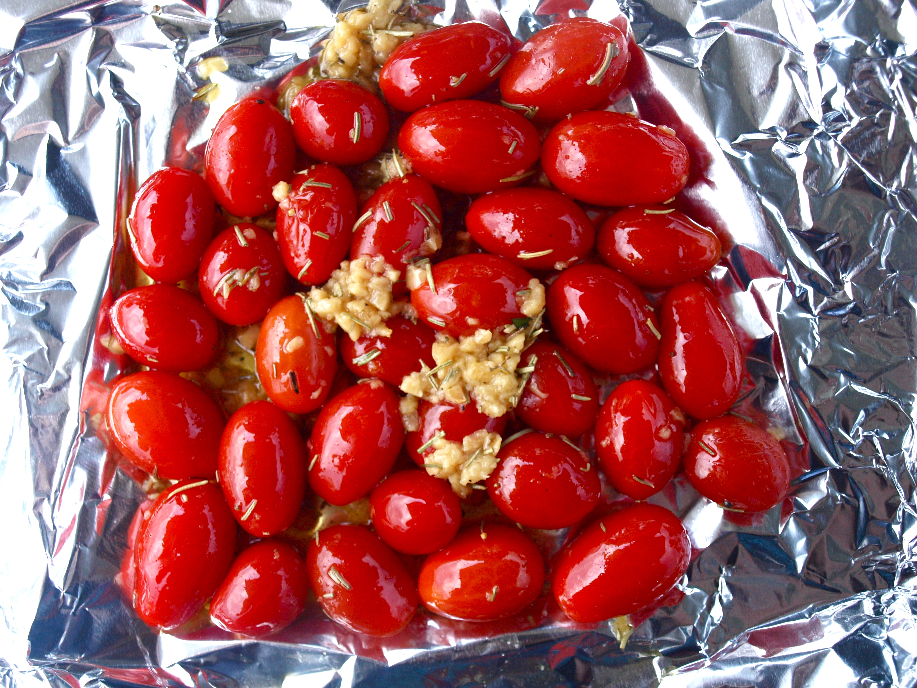 Roasted tomatoes, pre-grill
