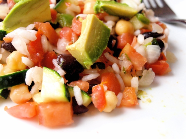 mexican rice and bean salad gluten free vegan