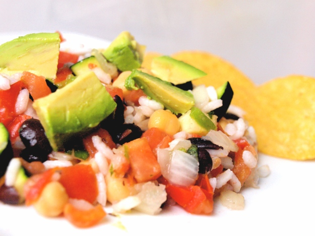 mexican rice and bean salad gluten free vegan Chips
