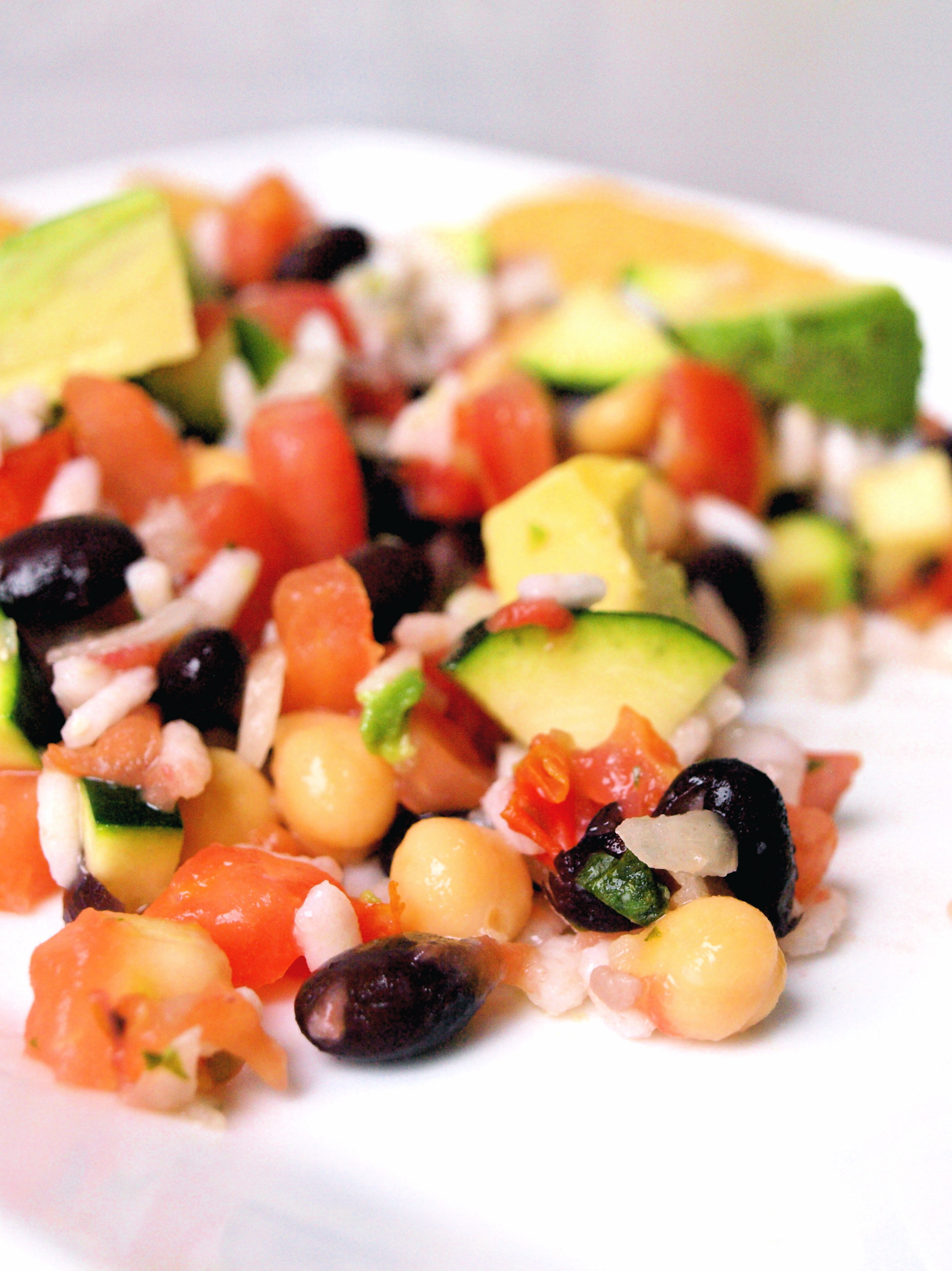 Rice and bean mexican salad gluten free vegan chip