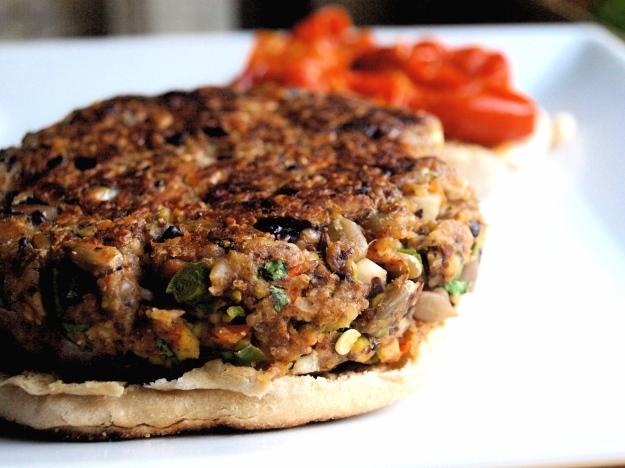 vegan veggie burger no top