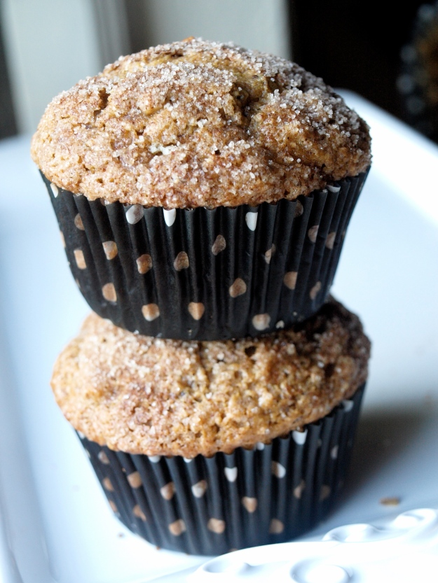 whole wheat peanut butter banana muffins vegan stack