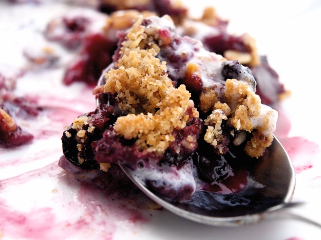 raspberry blueberry strawberry crisp ice cream bite