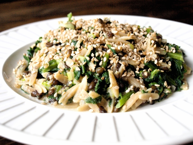 broccoli rabe orzo