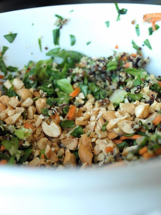 veggie wrap quinoa filling