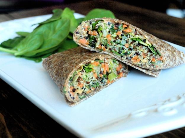 vegan veggie wrap sundried tomato aioli