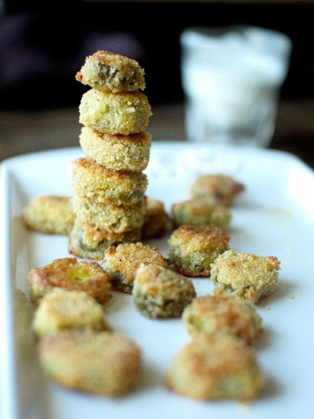 Minnesota state fair fried oven baked pickles stack 2