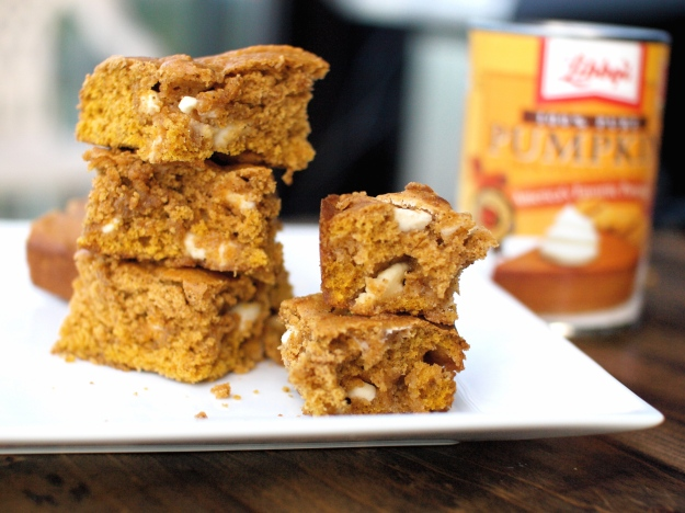 Pumpkin bars with white chocolate 2 stacks