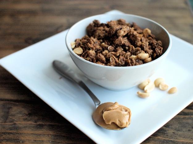 peanut butter nutella granola