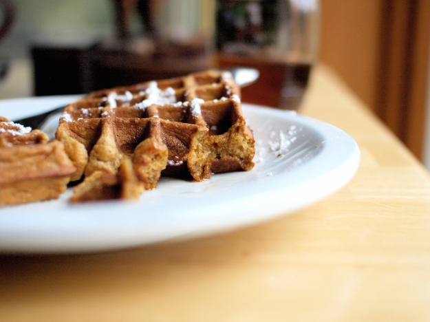 pumpkin waffles brown butter whole wheat