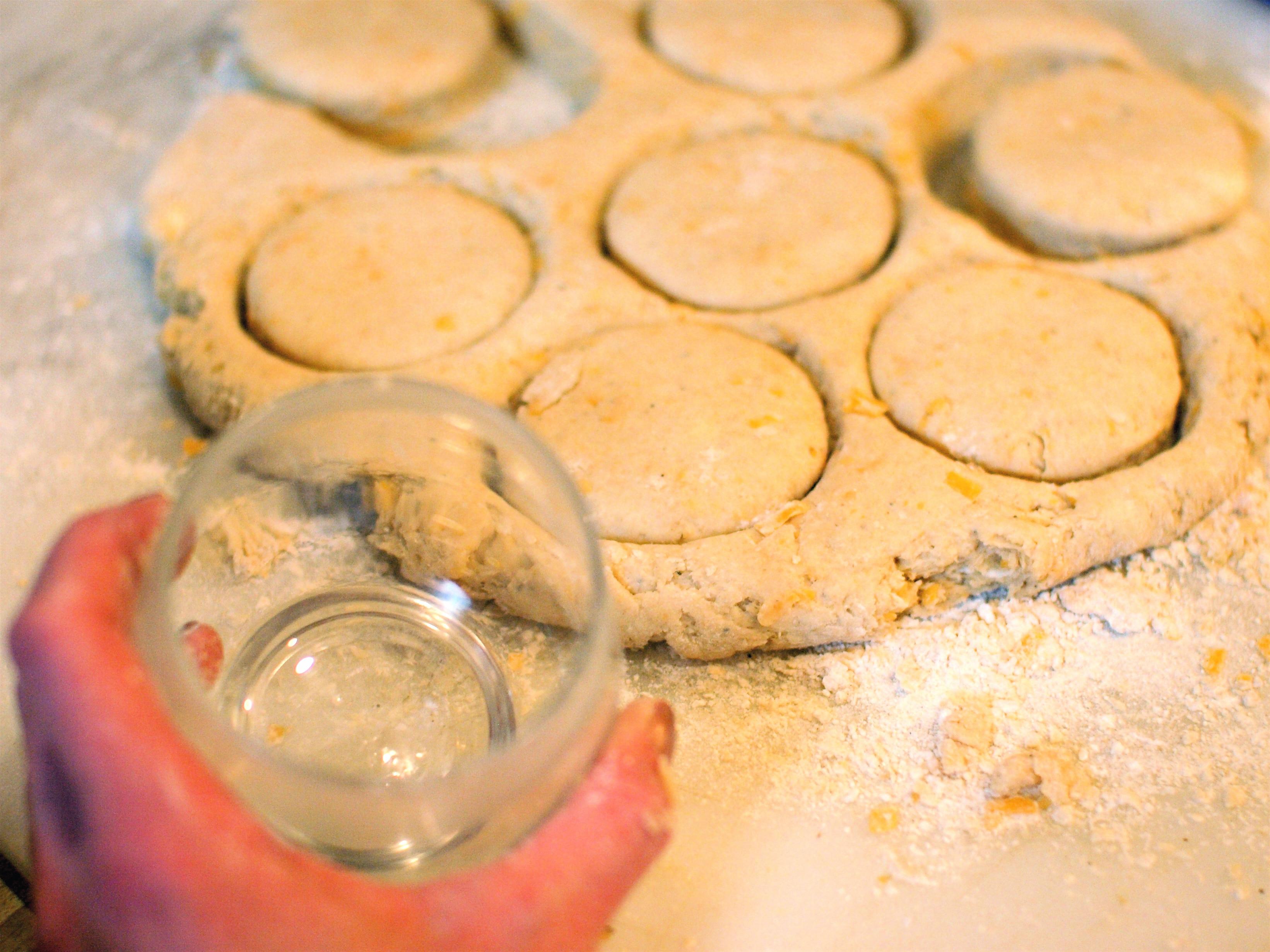 cheddar biscuit dough cutter