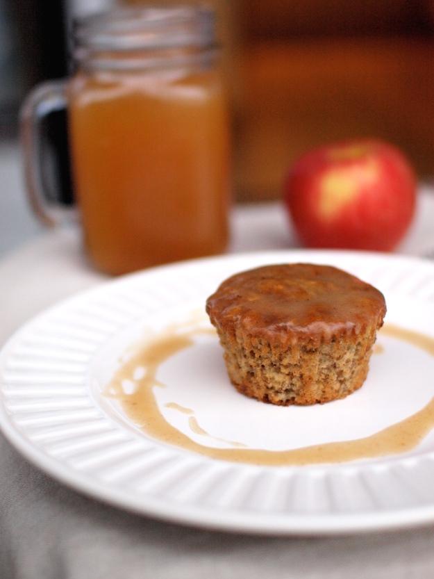 banana apple cider spice muffins