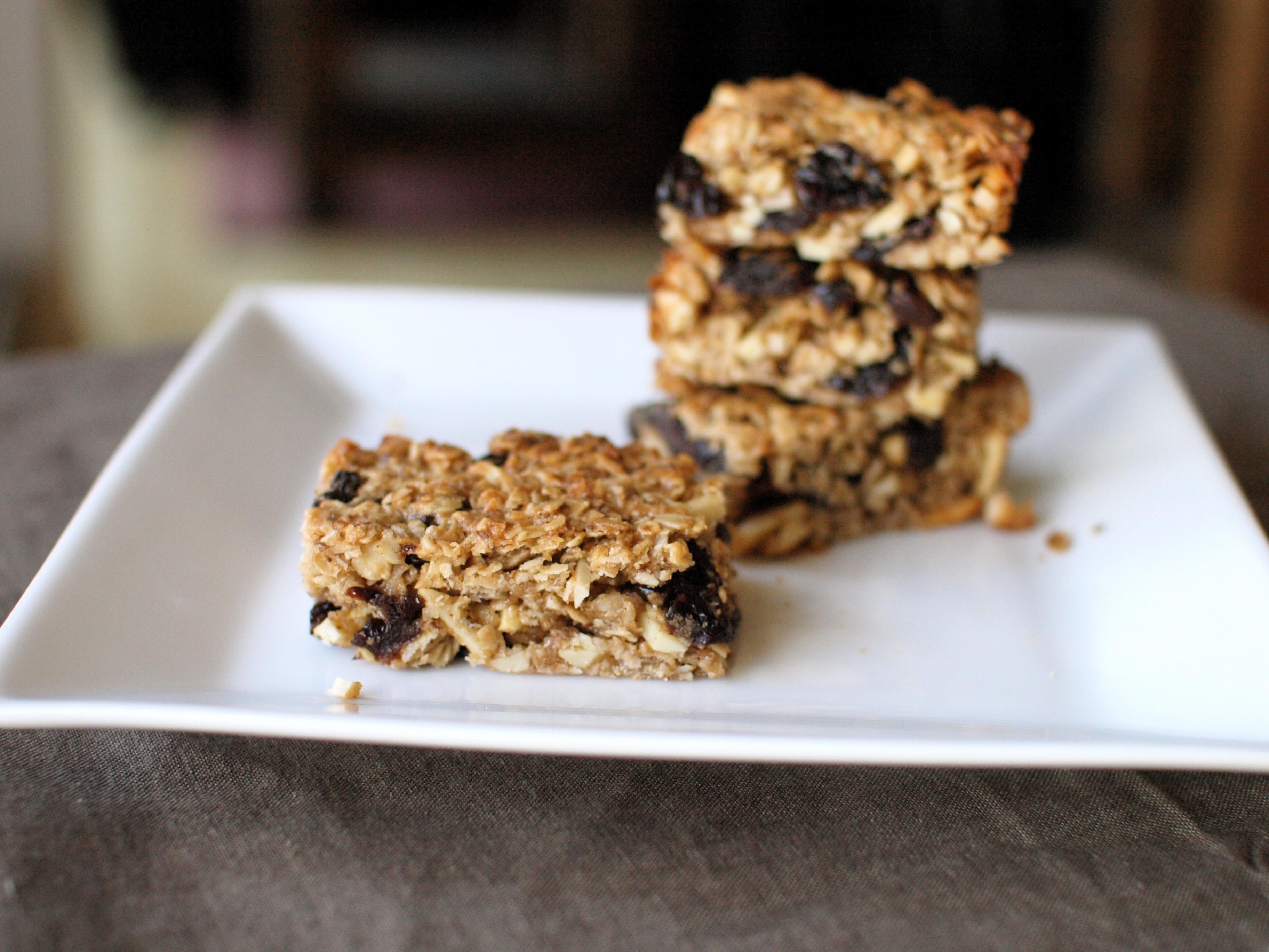 cherry coconut granola bar stack single