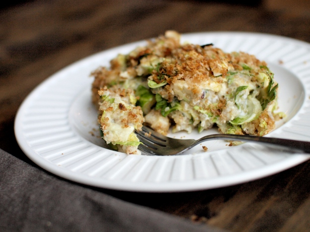 brussels sprout quinoa gratin 3