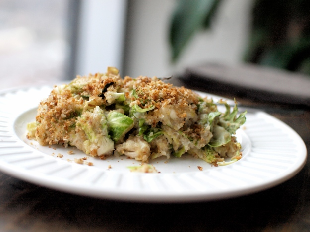 brussels sprout quinoa gratin 2